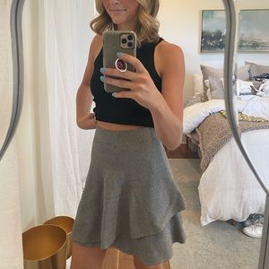 Zara Peplum B&W Skirt